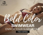 Bold Color Swimwear! Enrich Your Summertime!
