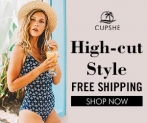 Cupshe High-cut Style! Free Shipping!