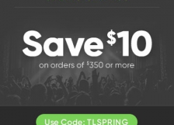 Save $10 on orders over $350