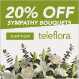 Save 20% on Sympathy & Funeral Flowers.