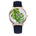 Fashion High Quality Fashion Women Gold Shell Tropical Leaf Nice Quartz Watch