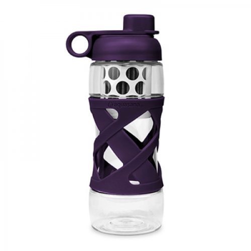 Aquasana Plastic Filter Bottle with Sleeve - Plum
