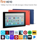 Amazon Renewed Top Deals Of the Week Upto 25% Off Genuine Brand Deals – Certified Refurbished Fire HD 10 Tablet with Alexa Hands-Free, 10.1″ 1080p Full HD Display, 32 GB, Black – with Special Offers (Previous Generation – 7th) At $ 79.99 – Extra Savings with Cashback & Coupons