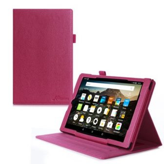 rooCASE Amazon Fire HD 10 2015 Dual View Leather Case Cover Auto...